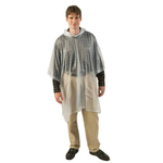 Clear Vinyl Hooded Poncho