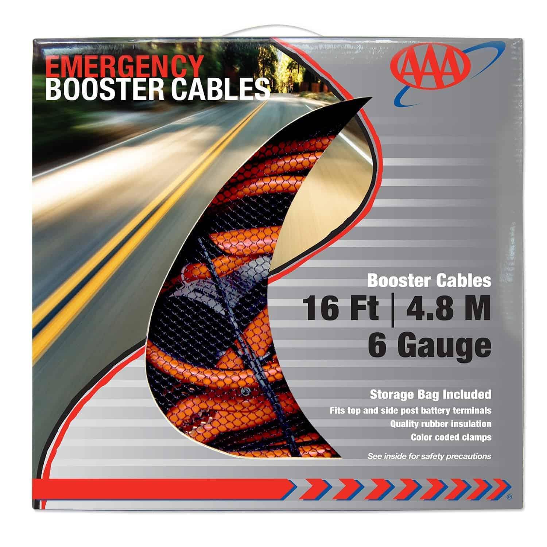 Lifeline - LF4326AAA - Heavy Duty 16' 6 Gauge Booster Cable