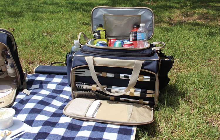 Portable BBQ Grill with Tote Bag Picnic