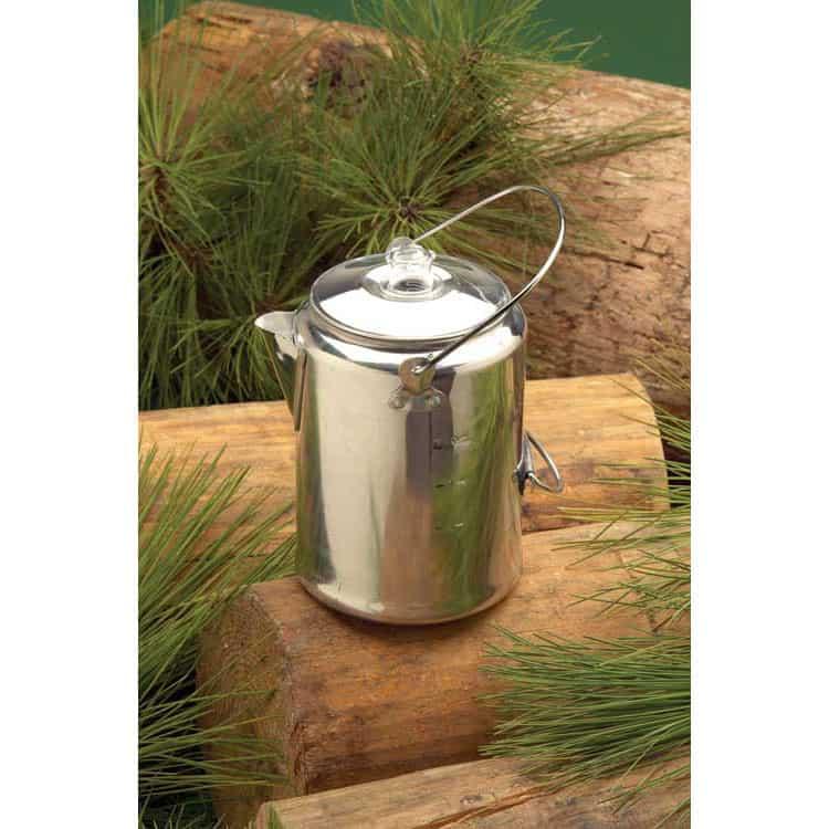 T13180 - Texsport 9 cup Aluminum Coffee Percolator