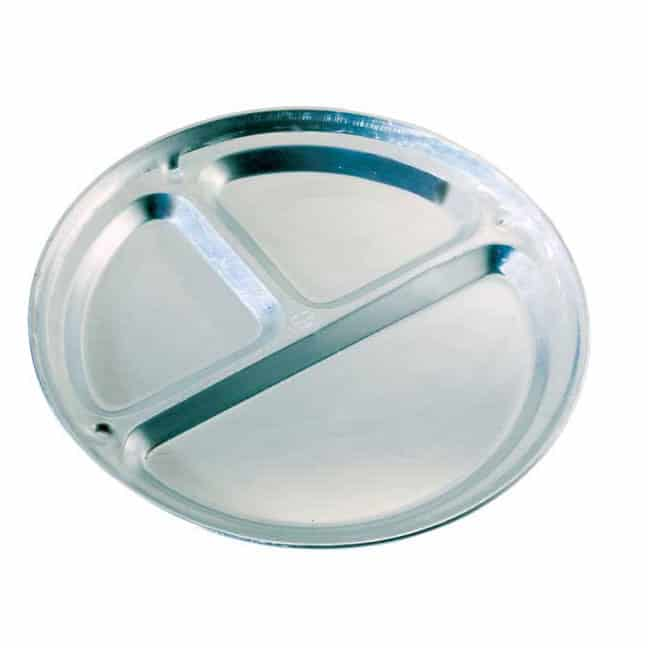 T13130 - Three-Compartment Aluminum Camping  Plate