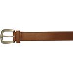 "10625410234 - 34"" Plain Brown Leather Field & Stream Belt"
