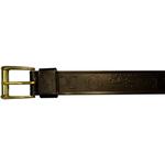 "10610300138 - 38"" Black Leather Belt With Logo"