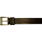 "10610300132 - 32"" Black Leather Belt With Logo"