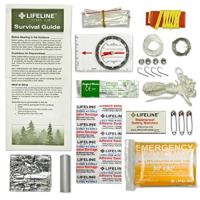 Lifeline Survival Kit Contents