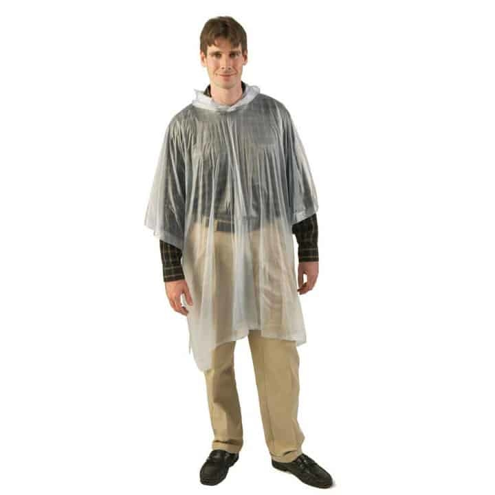 T32710 - Texsport 80 by 50 Inch Full Cut Clear Vinyl Hooded Poncho