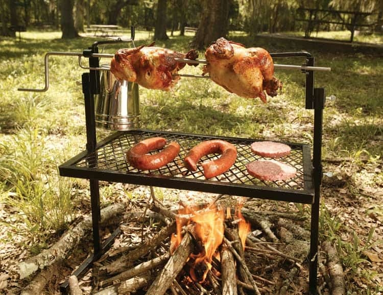 Stainless Steel Rotisserie Grill and Spit