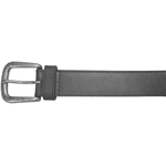 "10625410134 - 34"" Black Plain Field & Stream Leather Belt"