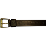 "10610300134 - 34"" Black Leather Belt With Logo"