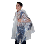 "T32772 - Full Cut Clear Vinyl Emergency Poncho 80"" x 50"""